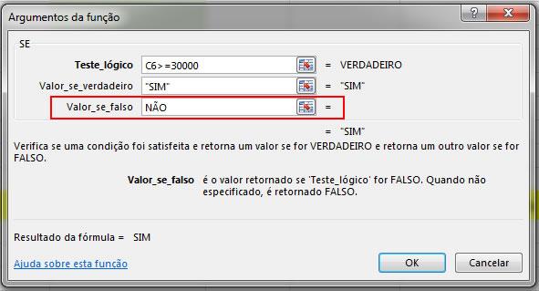 Valor_se_Falso_funçãoSe_Excel